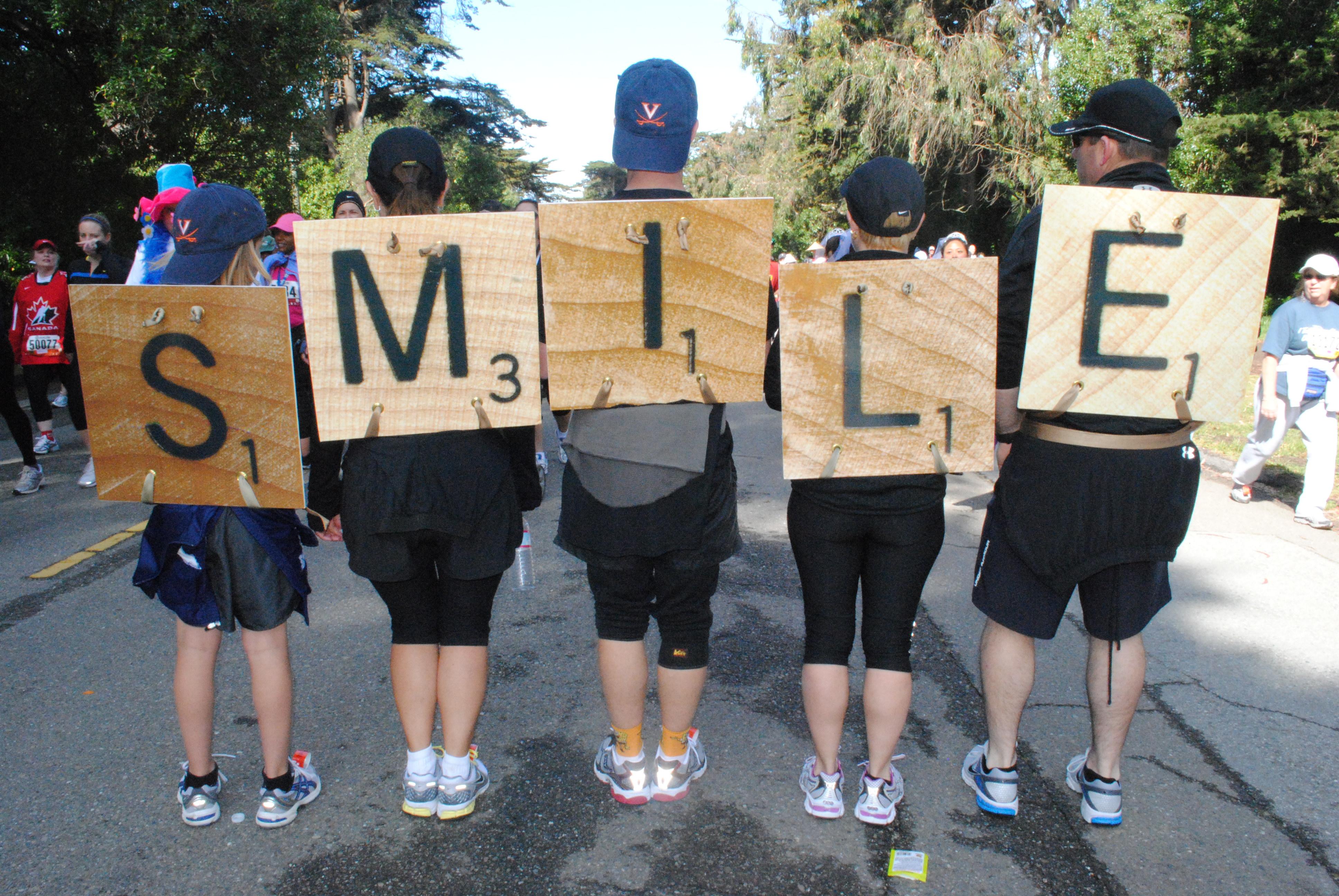 Scrabble tiles runners best race costumes for Diy scrabble costume